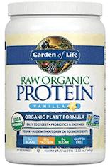 Garden of Life Raw Organic Protein Powder.