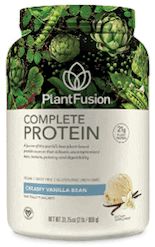 PlantFusion plant-based protein powder for women.