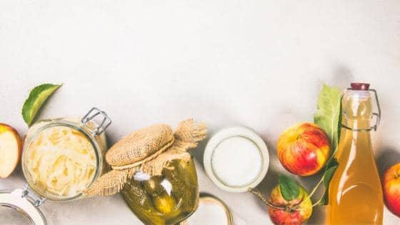 Foods with probiotics and prebiotics.