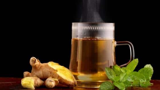 Ginger and ginger tea.