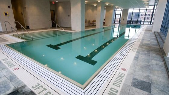 Image of a gym swimming pool.