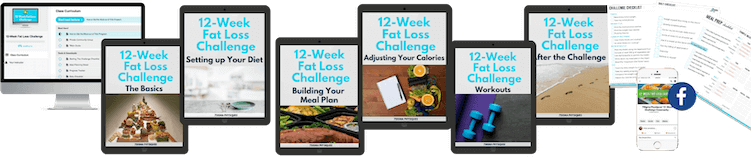 Images of everything included in the 12-Week Fat Loss Challenge