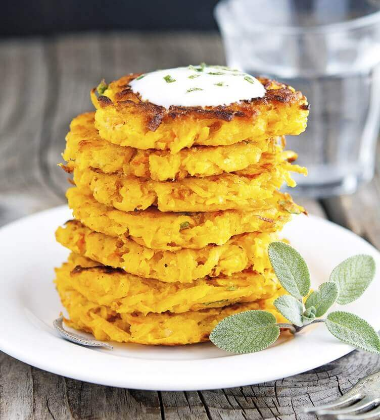 Image of butternut squash fritters