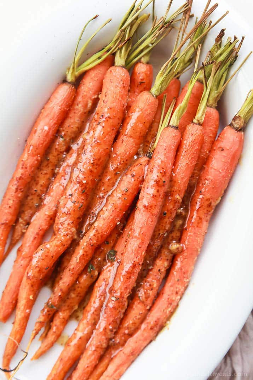 Image of honey mustard glazed carrots