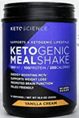 Keto Science Ketogenic Meal Shake [The 7 Best Keto Protein Powders for Weight Loss] Image