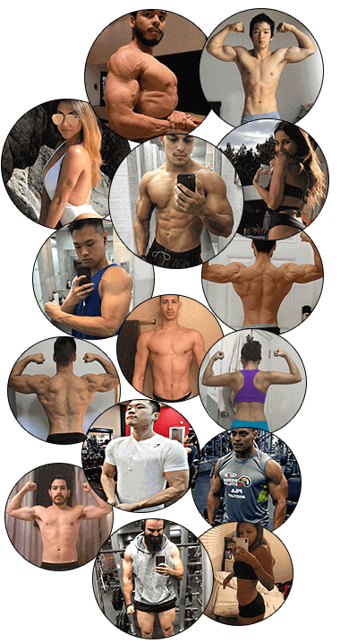 Weight loss client collage.