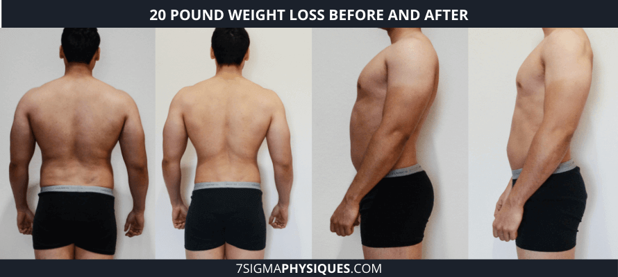 20 pound weight loss before and after